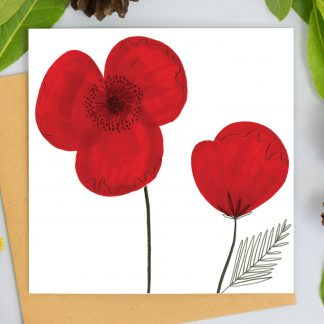 Poppy flower card