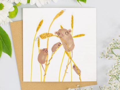 Harvest Mice card