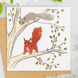 Red Squirrel card