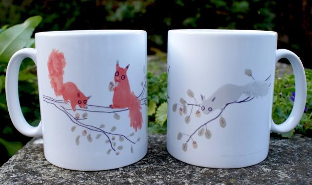 jo clark squirrels mug