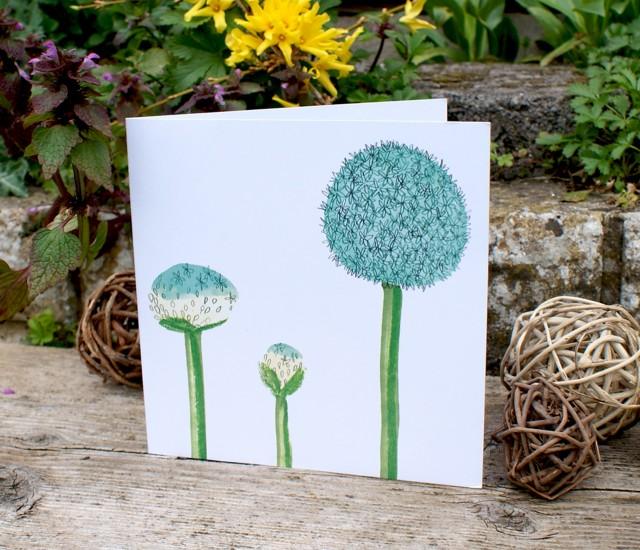 Blue flower spring card