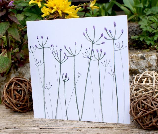 jo clark design purple stalk illustration