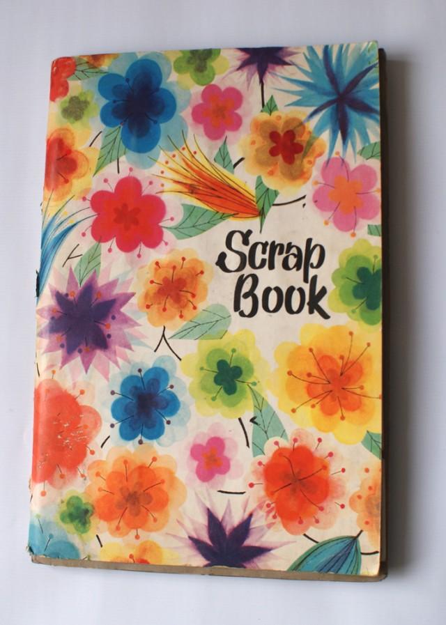 Scrap book of tea cards
