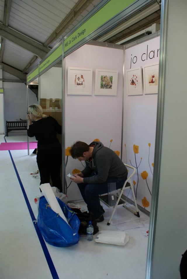 jo clark design at the british craft fair