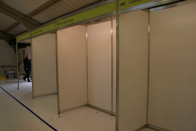 Exhibition stand set up empty shell
