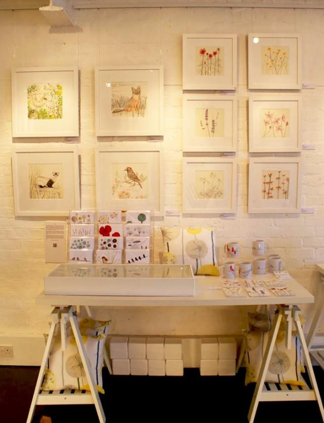 Jo Clark Exhibition display