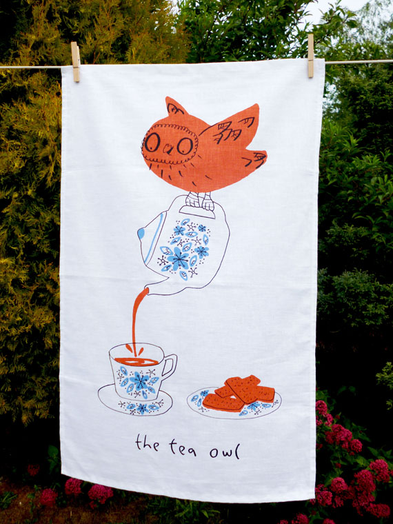 The Tea Owl Tea Towel