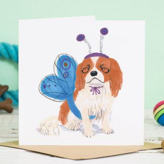 King charles spaniel dog card