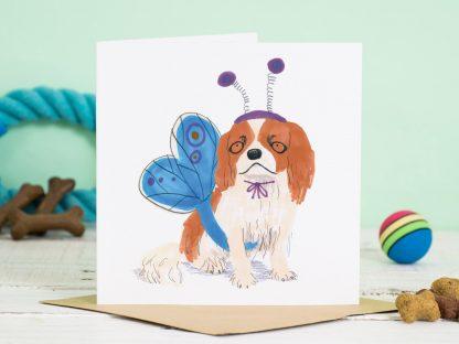 King charles spaniel dog card