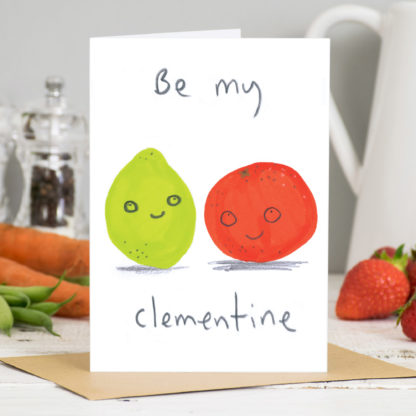 Be My Clementine Valentines Card