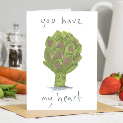 You Have My Heart Artichoke Valentines Card