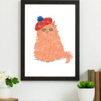 ginger cat print