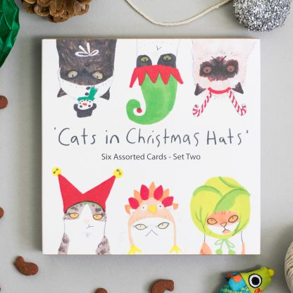 Cats Christmas cards multipack