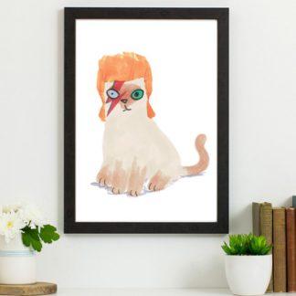 david bowie cat print