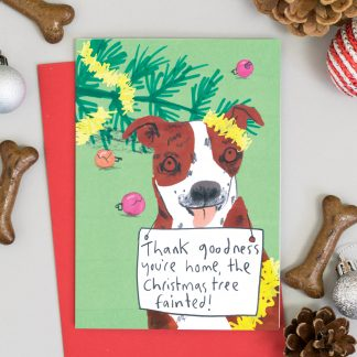 Staffordshire terrier Dog Chrisma Card