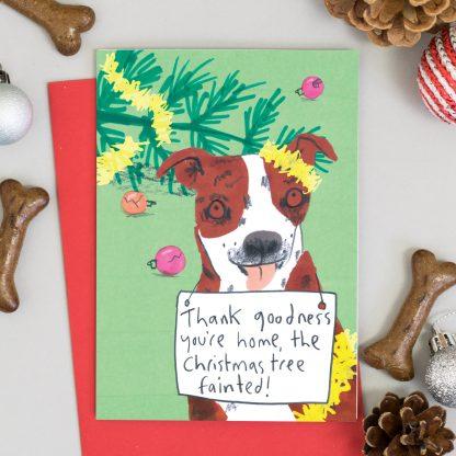 Staffordshire terrier Dog Chrisma Card