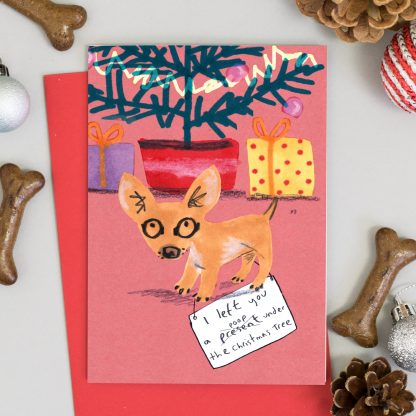 funny chihuahua dog Christmas Card