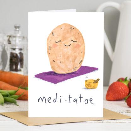 Meditatoe Yoga meditation Card