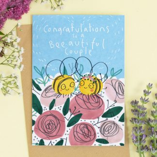 Congratulation Wedding card Bees