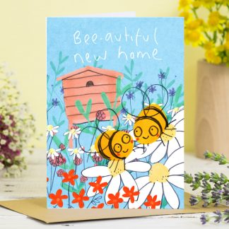new home card bees