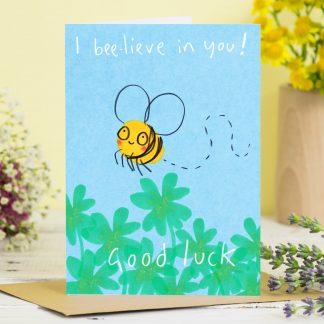 Good luck card bee