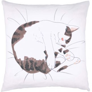 Cat Nap Cushion Tabby & White