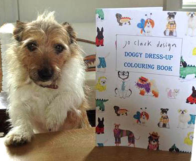 Doggy Dress Up Colouring Book