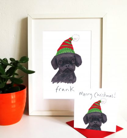 Pet Portrait & Card Christmas Gift Set