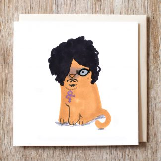 Cat In Prince Wig Card