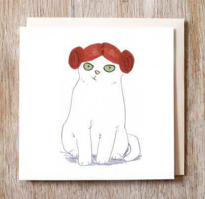 Cat In Princess Leia Wig