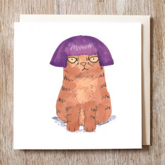 Cat In Purple Wig