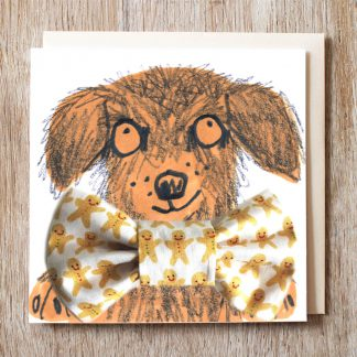 Hipster Hound Gingerbread People Bowtie
