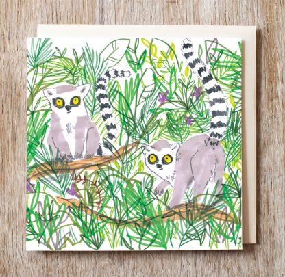 Lemur In The Jungle