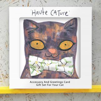 Cat In Mistletoe Bowtie