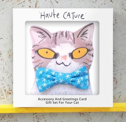 Cat in Snowflake bowtie