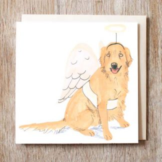 Golden Retriever Angel Card