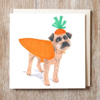 Border Terrier Carrot Card