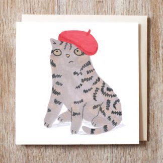 Cat In Beret Hat