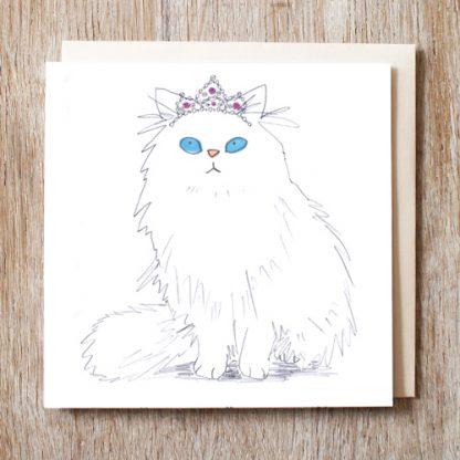 Cat In Tiara Card