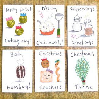 Christmas Dinner Set Of Twelve Cards