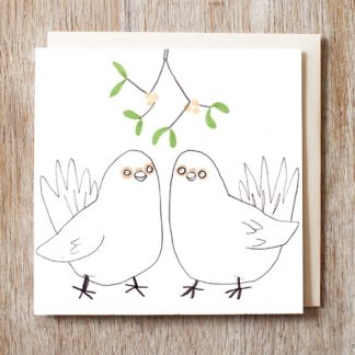 Love Doves Festive Card