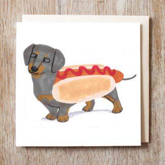 Dachshund 'Hotdog' card