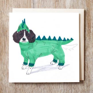 Springer Spaniel Dragon Card