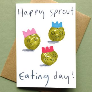 Happy Sprout Eating Day Christmas Card