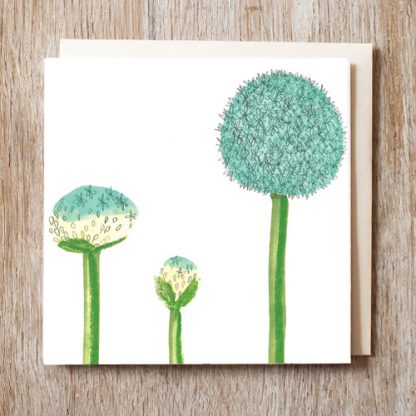 Allium Blooming Card