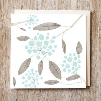 Blueberry Bunch Card