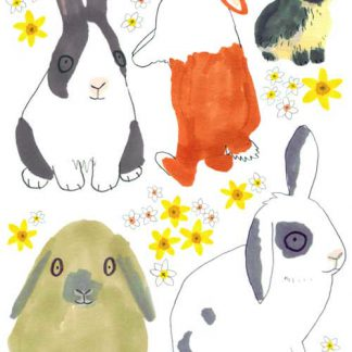 Bunny Rabbits Wall Stickers Set