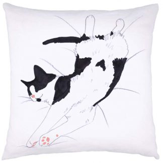 Cat Nap Cushion Black & White