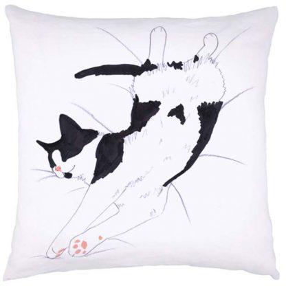 Cat Nap Cushion Black & White