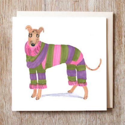 Greyhound Fashionista Card